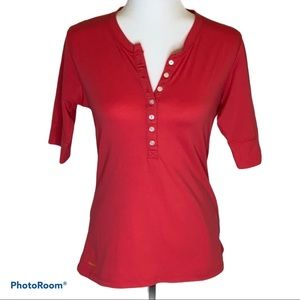 Ladies Nike ACG Button up Henley 3/4 sleeve top